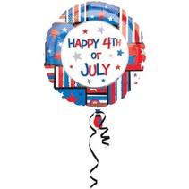 "***Happy 4th of July 18"" Mylar Balloon"