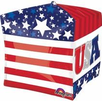 """***USA Cube 15""""x15"""" Mylar balloon"""