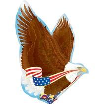 "***Patriotic Eagle Jumbo 31"" Mylar Balloon"
