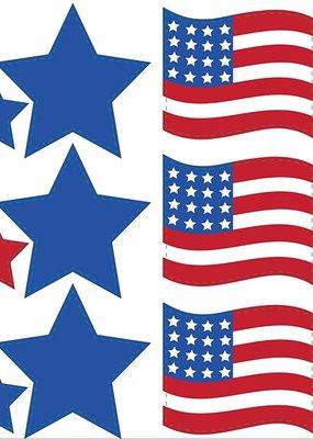 ***Patriotic Decor Cutouts 18ct
