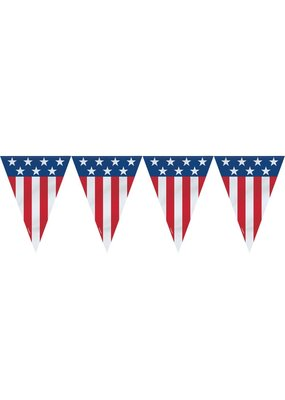 ***Patriotic Small Pennant Flag Banner 9ft
