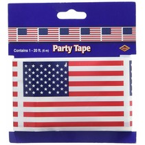 ***American Flag 20ft Plastic Party Tape