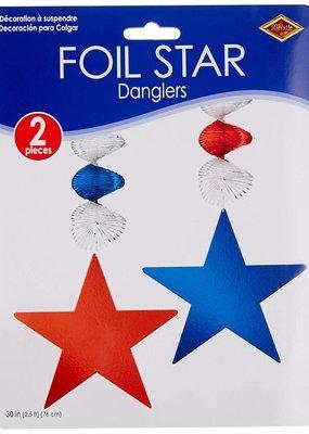 """***Foil Star 30"""" Dangler 2ct"""