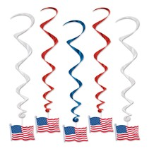 ***American Flag Whirls 5ct
