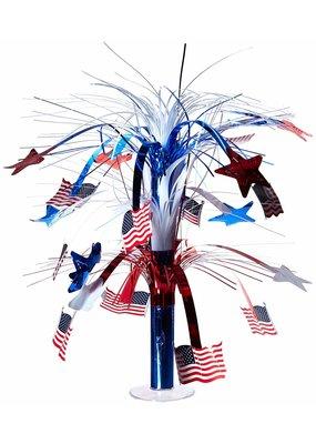 "***American Flag 18"" Cascade Centerpiece"