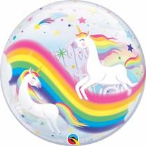 """***Birthday Rainbow Unicorns 22"""" Bubble Balloon"""