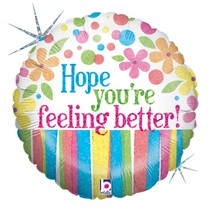 "***Hope You're Feeling Better 18"" Mylar Balloon"