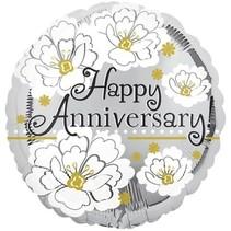 "***Happy Anniversary 18"" Mylar Balloon"