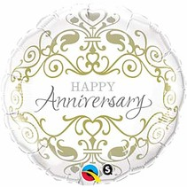 "***Anniversary Classic 18"" Mylar Balloon"