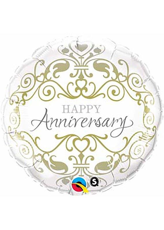 "****Anniversary Classic 18"" Mylar Balloon"