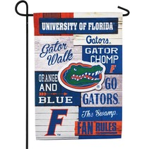 ***University of Florida, Linen Fan Rules Garden Flag