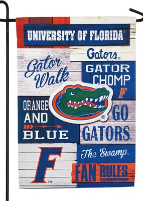 ***University of Florida, Linen Fan Rules Garden Flag