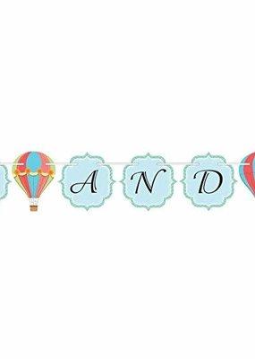 ***Up, Up, and Away Hot Air Balloon Ribbon Banner