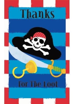 ***Pirates Treasure Thank You Notes 8ct