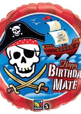 "****Happy Birthday Mate Pirate 18"" Mylar Balloon"