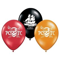 ***Pirates of the Caribbean Latex Balloons 6ct