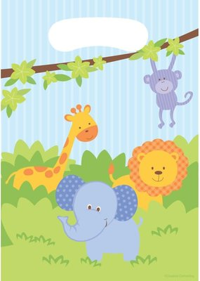 ***Forest Friends Jungle Loot Bags 8ct
