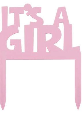 ***It's a Girl Plastic Cake Topper