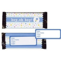 ***Boy Baby Candy Wraps Baby Shower Favors