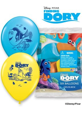 ***Finding Dory 6ct Latex Balloons