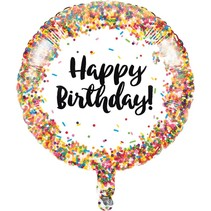 "***Sprinkles Birthday 18"" Mylar Balloon"