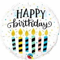 "***Happy Birthday Candles 18"" Mylar Balloon"