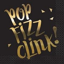 ***Pop Fizz Clink Beverage Napkin