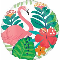 "***Flamingo Luau 18"" Mylar Balloon"
