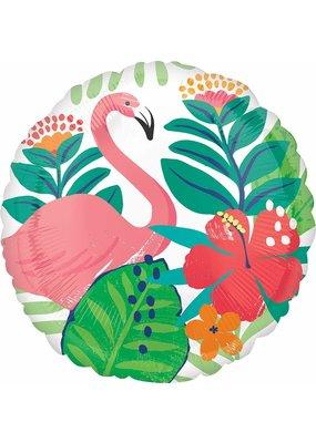 """***Flamingo Luau 18"""" Mylar Balloon"""