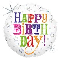 "***Birthday Greetings 18"" Mylar Balloon"