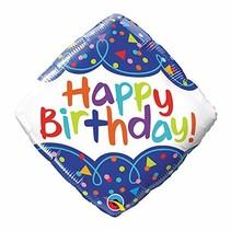"***Birthday 18"" Square Mylar Balloon"