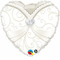"***Wedding Gown Heart Shape 18"" Mylar Balloon"