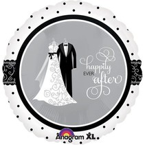 """***Happily Ever After 18"""" Wedding Mylar Balloon"""