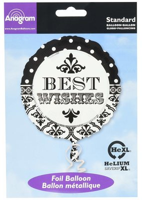 """***Best Wishes 18"""" Wedding Mylar Balloon"""