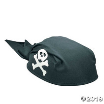 ***Pirate Party Black Felt Scarf Hat