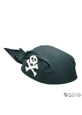 ****Pirate Party Black Felt Scarf Hat