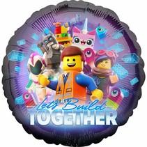 "***Lego Movie Let's Build 18"" Mylar Balloon"