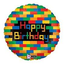 "***Lego Block Birthday 18"" Mylar Balloon"
