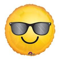 "***Sunglasses Emoji 18"" Mylar Balloon"