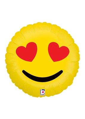 "****Emoji Heart Eyes 18"" Mylar Balloon"