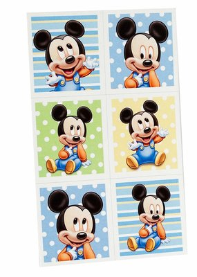 ***Baby Mickey Mouse Stickers 4 sheets
