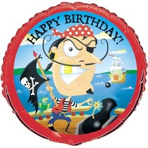 "***Pirate Gold Tooth Birthday 18"" Mylar Balloon"
