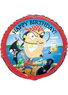 "***Pirate Gold Tooth Birthday 18"" Mylar Balloon"