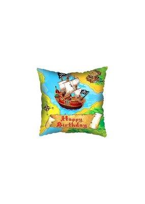 "***Pirate Treasure Map Birthday 18"" Square Mylar Balloon"