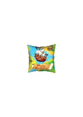 "***Pirate Treasure Map Birthday 18"" Square Mylar Balloon"