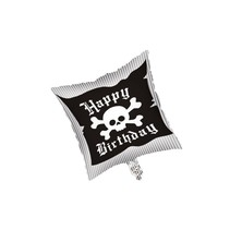 "***Pirate Birthday Party 18"" Square Mylar Balloon"