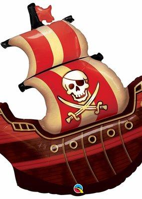 """***Pirate Ship 40"""" Supershape Mylar Balloon"""