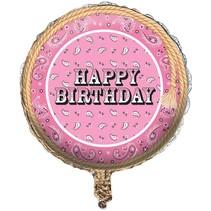 ***Pink Bandana Birthday Mylar Balloon