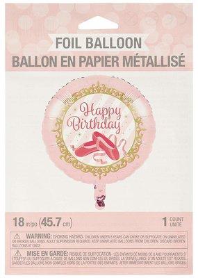 """***Twinkle Toes Birthday Ballerina 18"""" Mylar Balloon"""