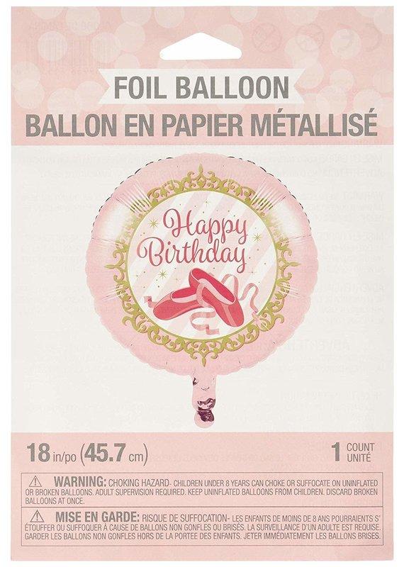 """*****Twinkle Toes Birthday Ballerina 18"""" Mylar Balloon"""